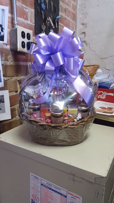 Gift Basket Purple Bow Wally S Service Station